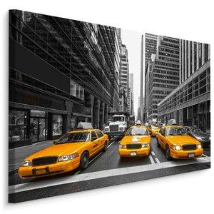 Schilderij Gele taxi in New York City, 4 maten, wanddecoratie