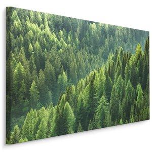 Schilderij - Groen bos, 4 maten, wanddecoratie