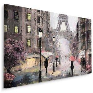 Schilderij - Regen in Parijs II, multi-gekleurd, 4 maten, premium print