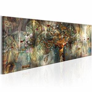 Schilderij - Land van Geluk , multi kleur , 135x45cm