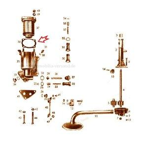 Gasket oil filter cover 170