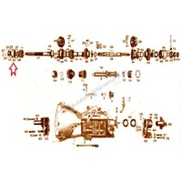 Groove bearing transmission main shaft