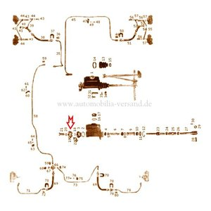 Distribution piece brake cylinder
