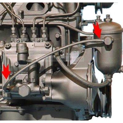 Tuyau de la pompe à carburant au filtre