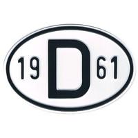 Plaque de nationalité Alu 1961