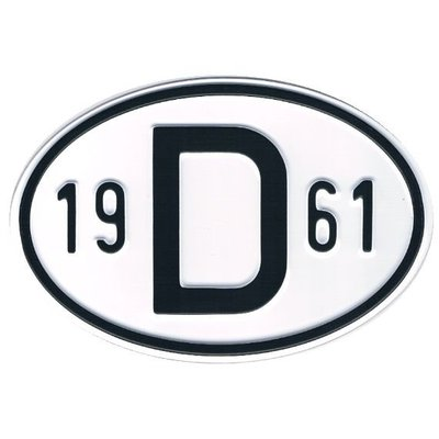 D-Schild Alu 1961