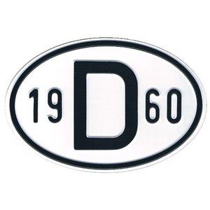 Plaque de nationalité Alu 1960