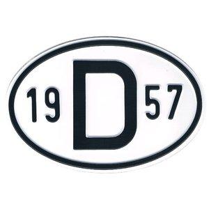 D-Schild Alu 1957