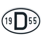 D-Schild Alu 1955