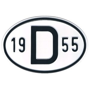 Plaque de nationalité Alu 1955