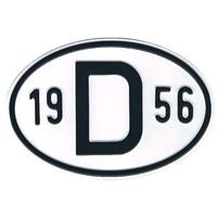 Plaque de nationalité Alu 1956