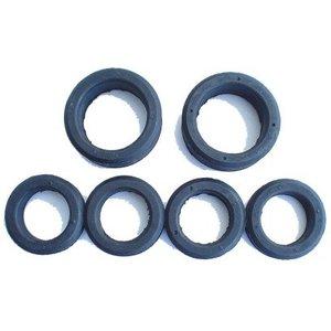 Rubber rings rear suspension