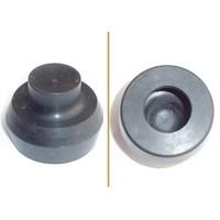 Rubber bellows foot pump