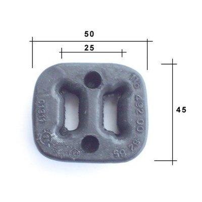 Resterende rubberen uitlaat 450SEL / 6.9