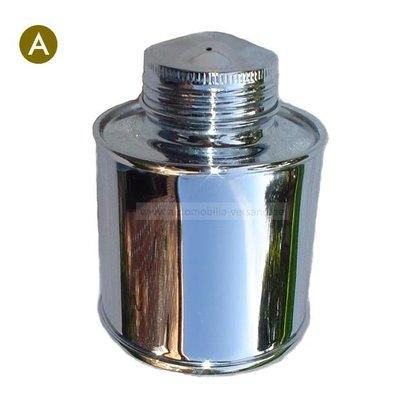 Metal brake fluid reservoir