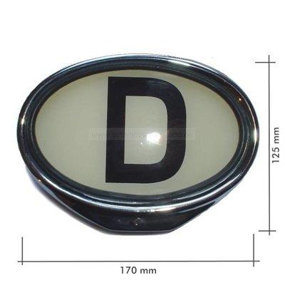 D-Schild beleuchtbar