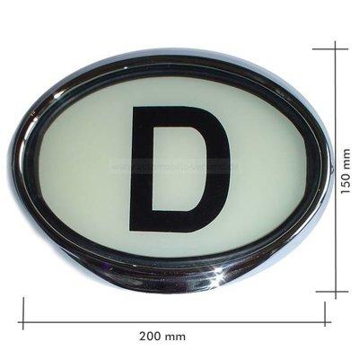 D-teken verlicht