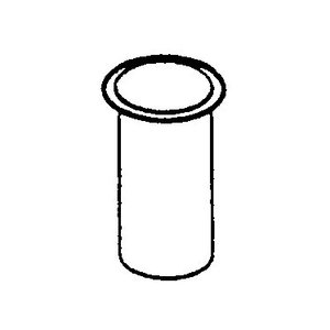 Rubber bushing, above