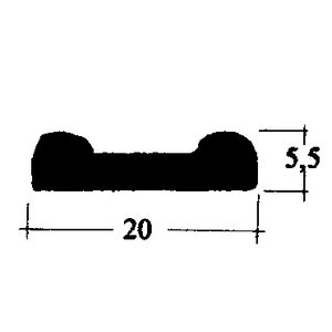 Hood rubber pad 170V ..