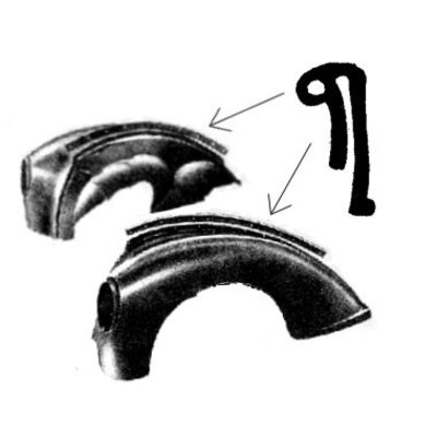 Rubber profile hood side panel