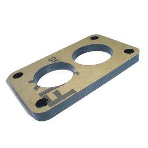 Insulating flange carburettor intake manifold