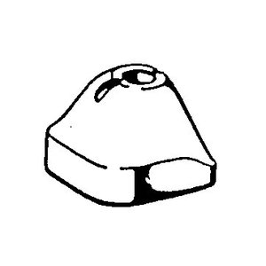 Fixations en caoutchouc de l'essieu arrière 30mm