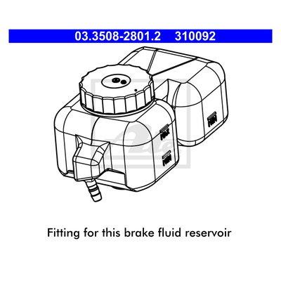 Rep. Set of brake fluid reservoir