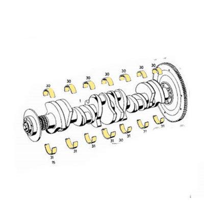 Roulement de bielle Mercedes 300, b, c, D, S, 300SL