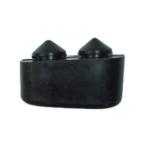 Rubber buffer structure-soil