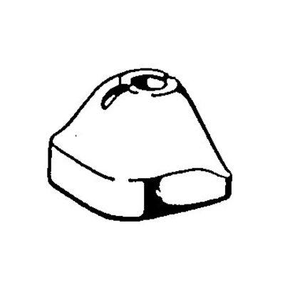 Fixations en caoutchouc de l'essieu arrière top