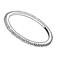 Starter ring gear teeth 108
