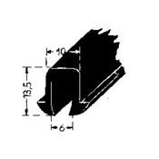 Rubber profiel voorste plaat 170V