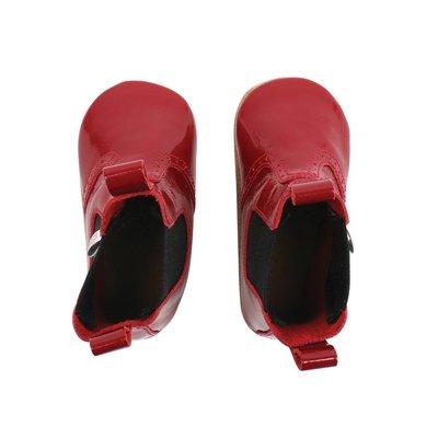 Bobux babylaarsjes glossy red mini jodphur