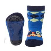Ewers Anti-slip Sokken Stoppi trein blauw