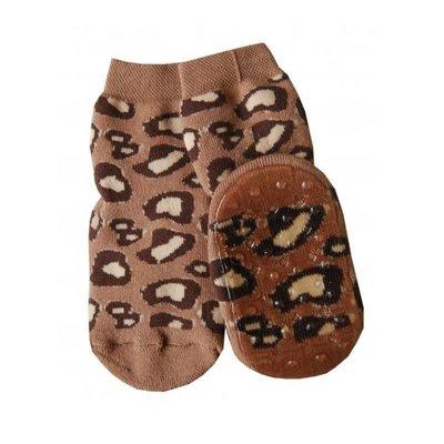 Ewers Anti-slip Sokken Stoppi Leo bruin