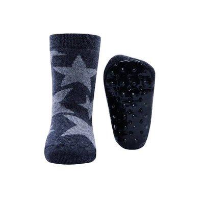 Ewers Anti-slip Sokken Stoppi grote sterren antraciet