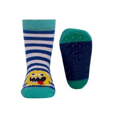 Ewers Anti-slip Sokken Stoppi monster blauw