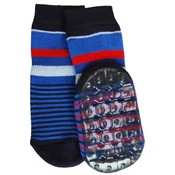 Ewers Anti-slip Sokken Stoppi streep blauw
