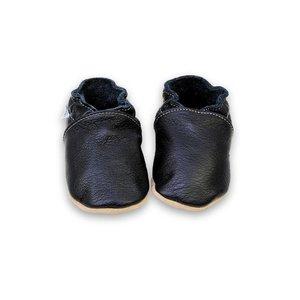 Hobea babyslofjes effen zwart