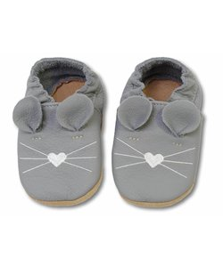babyslofjes donkergrijs muis