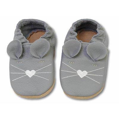 Hobea babyslofjes muis donker grijs
