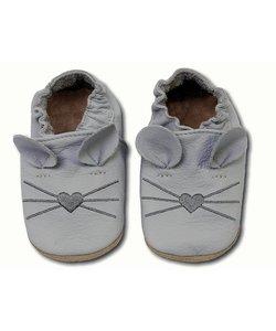 babyslofjes muis licht grijs