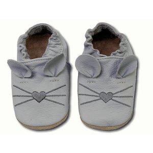 Hobea babyslofjes muis licht grijs
