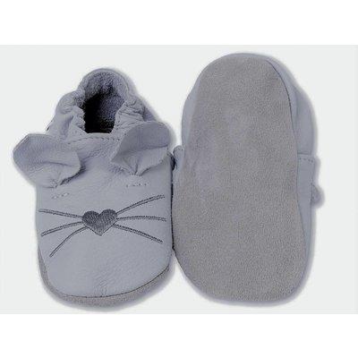 Hobea Licht Grijs babyslofje muis Hobea