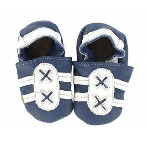 Hobea babyslofjes sport blauw/wit