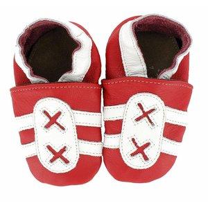 Hobea babyslofjes sport rood wit