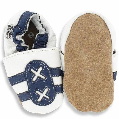 Hobea babyslofjes sport wit/blauw