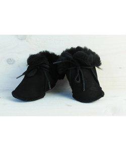 wollige winterslofjes zwart