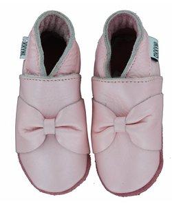 babyslofjes roze met strik