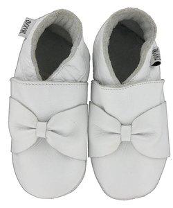 babyslofjes wit met strik